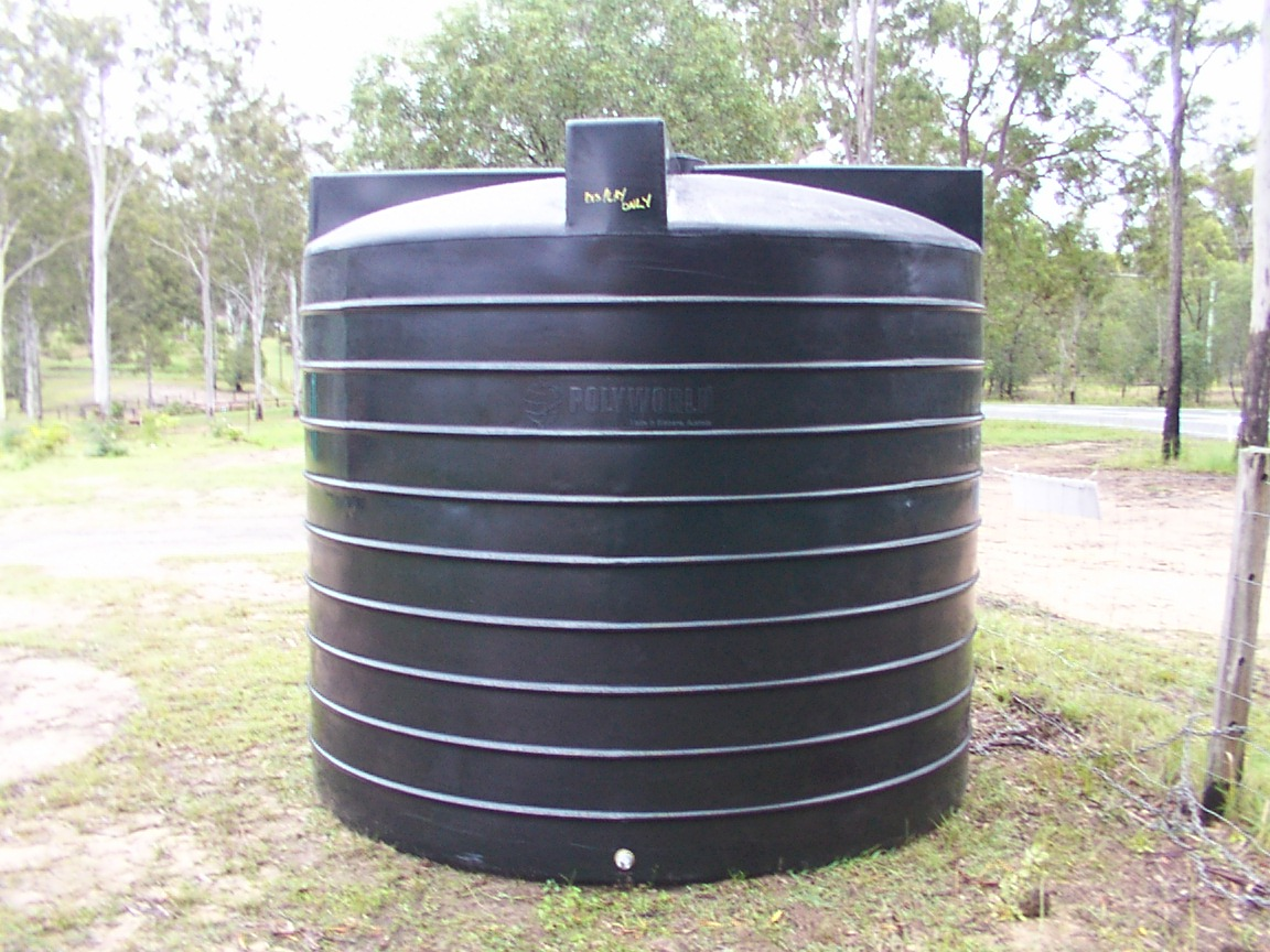 Plastic water storage tanks rainwater tank sizes home for Household water tank design